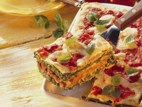 lasagne mit spinat und hackfleisch rezept eat smarter. Black Bedroom Furniture Sets. Home Design Ideas