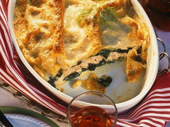 Lasagne Mit Spinat Und Lachs Rezept Eat Smarter