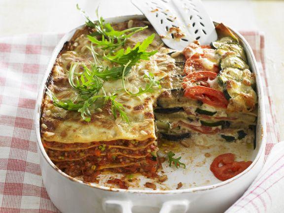 Lasagne mit zweierlei Füllungen
