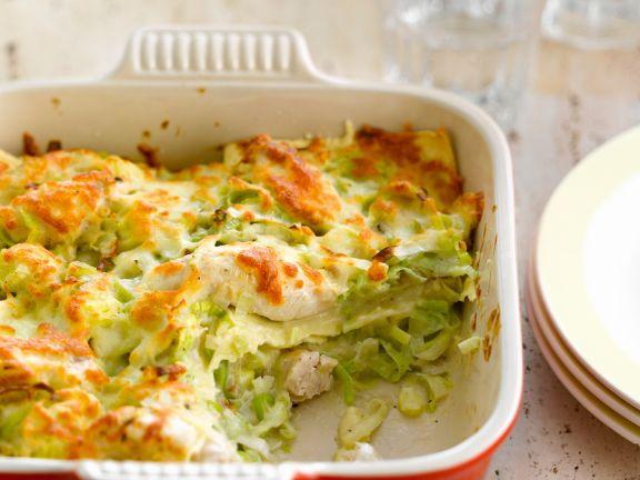 Lauch-Geflügel-Lasagne