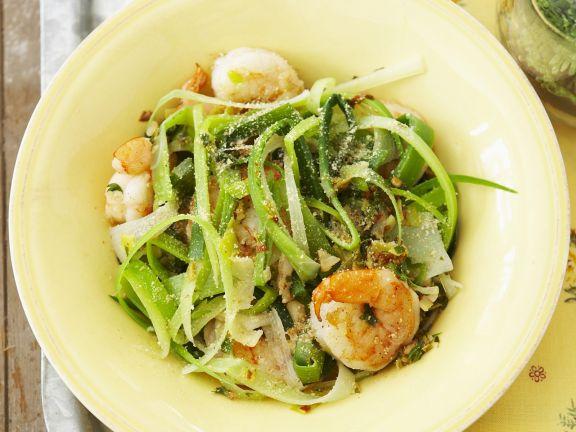 Lauchgemüse mit Shrimps