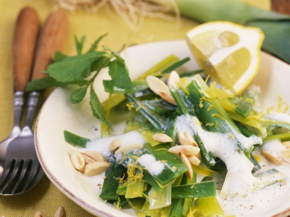 Lauchgemüse mit Zitronensauce