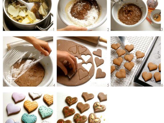 Lebkuchen in Herzform