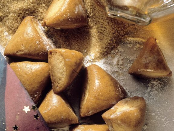Lebkuchen mit Marzipanfüllung (Biberle)