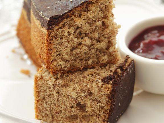 Lebkuchen mit Schokolade glasiert