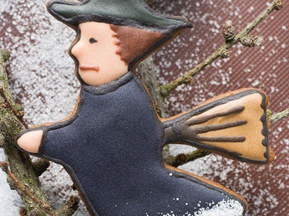 Lebkuchenplätzchen-Hexe