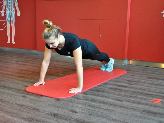 Abnehmen der Arme und Routine des unteren Rückens