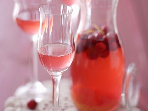 Likör aus Cranberries