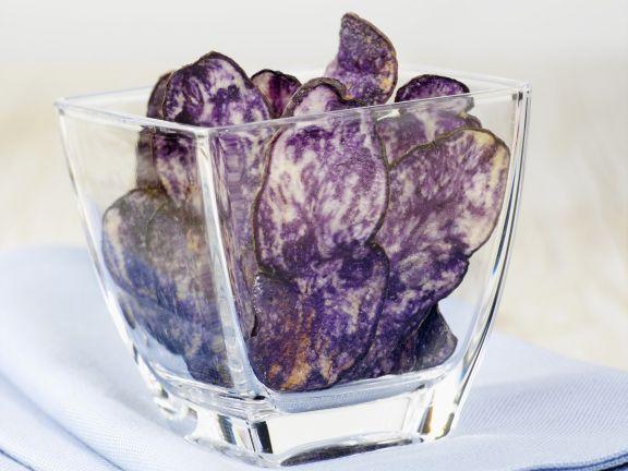 Lila Kartoffelchips