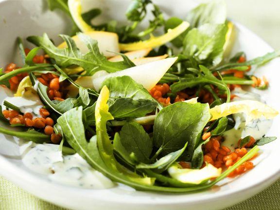 Linsen-Blattsalat