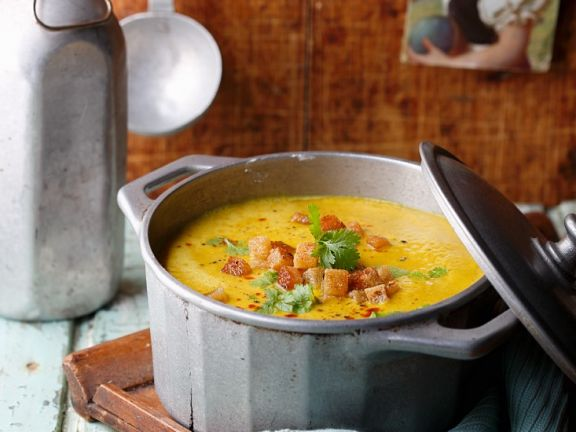 Linsen-Curry-Suppe
