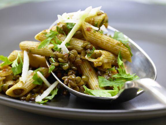 Linsen-Gemüse-Bolognese