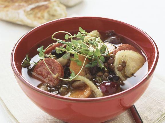 Linsen-Karotten-Suppe mit Fenchel