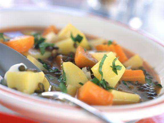 Linsen-Kartoffel-Gulasch