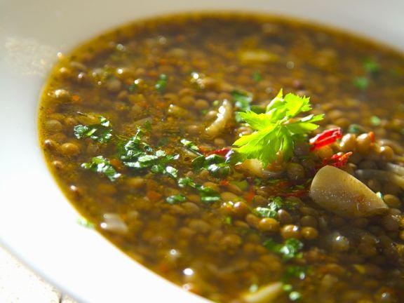 Linsen-Knoblauchsuppe