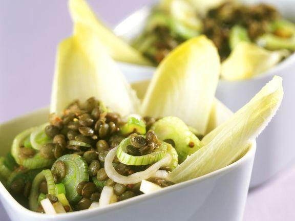 Linsen-Lauchzwiebel-Salat