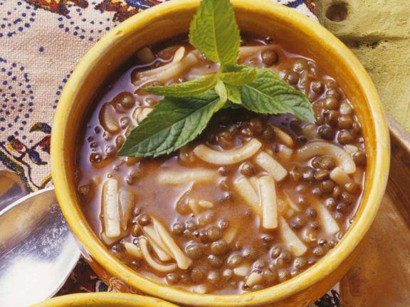 Linsen-Minz-Suppe