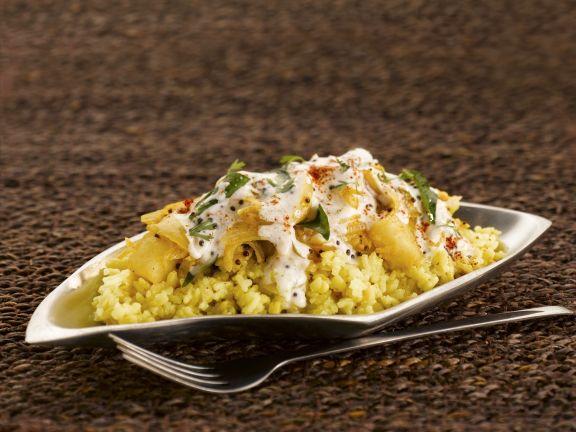 Linsen-Reis-Gericht auf indische Art