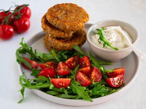 vegetarsich, Frikadelle, Linsen