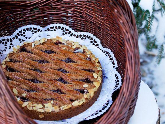 Linzer Torte mit Mandelblättchen