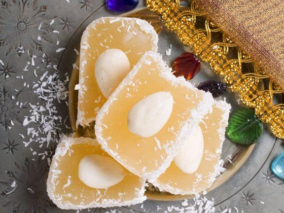 Lokum mit Mandeln und Kokos