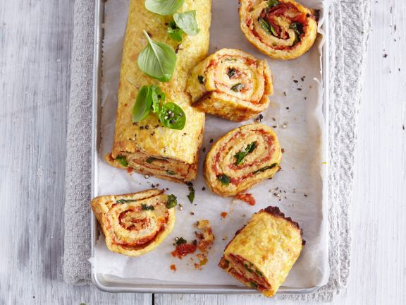 Low-Carb-Pizzarolle mit Blumenkohl