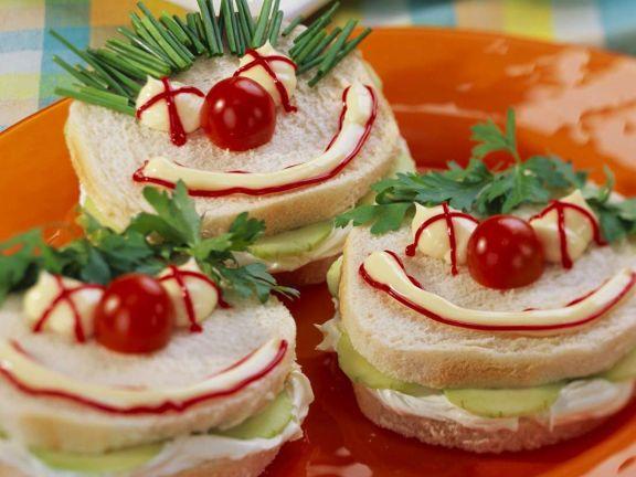 Lustige Sandwiches