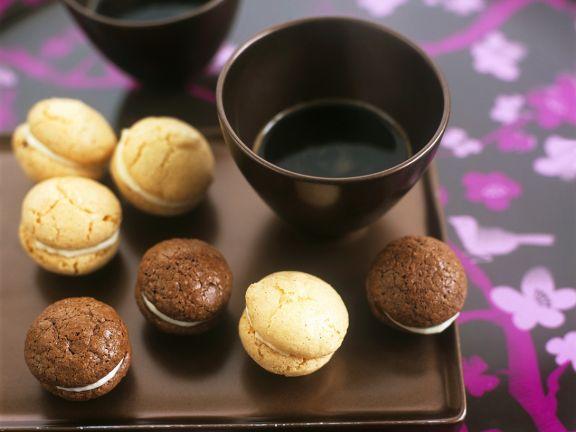 Macarons in verschiedenen Geschmacksrichtungen