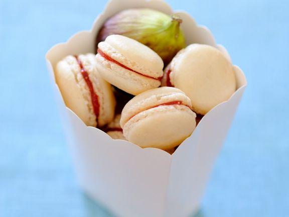 Macarons mit Feigenkonfitüre