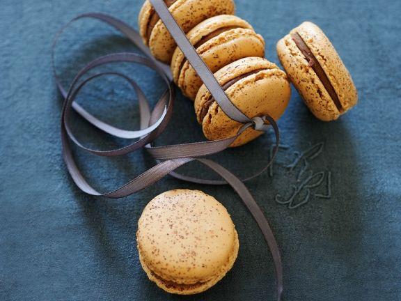 Macarons mit Kaffee