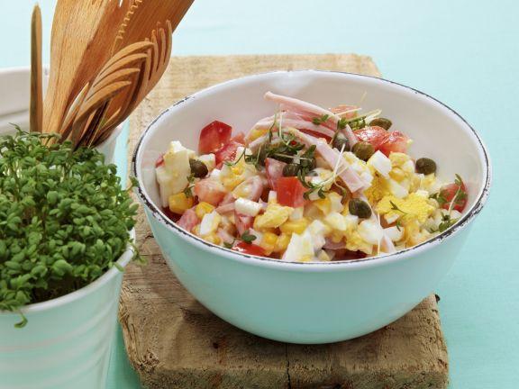 Mais-Eier-Salat mit Schinken