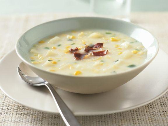 Mais-Kohlrabi-Suppe