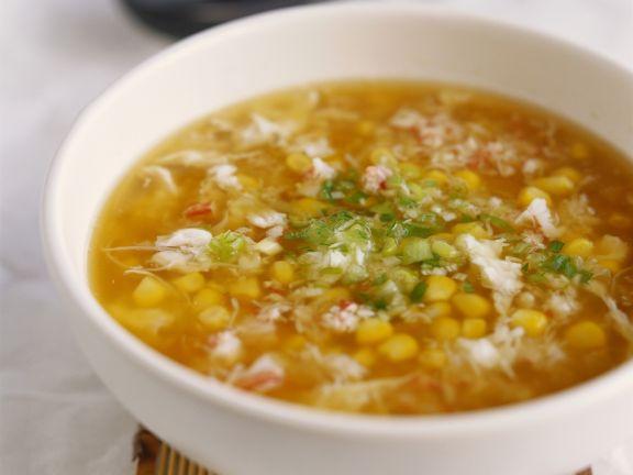 Mais-Krabben-Suppe auf chinesische Art