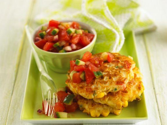 Maispuffer mit Salsa