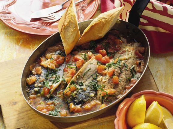 Makrelen-Tomaten-Pfanne