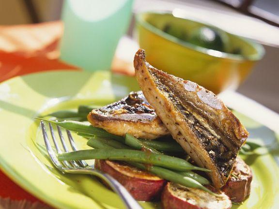Makrelen vom Grill mit Gemüse