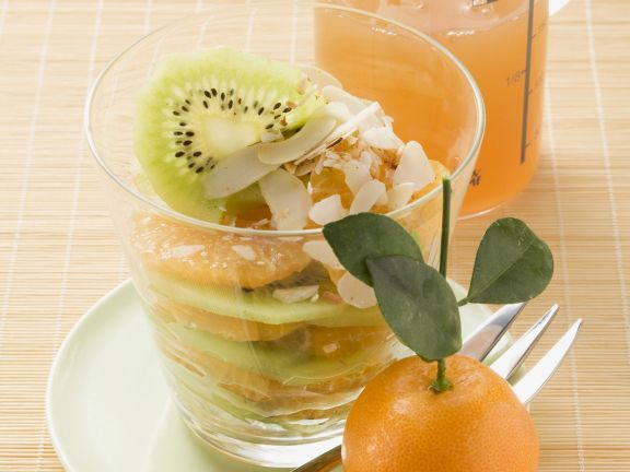 Mandarinen-Kiwi-Salat