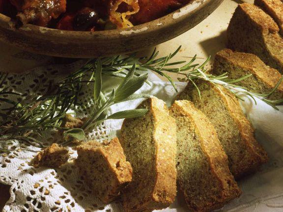 Mandelkuchen mit Salbei