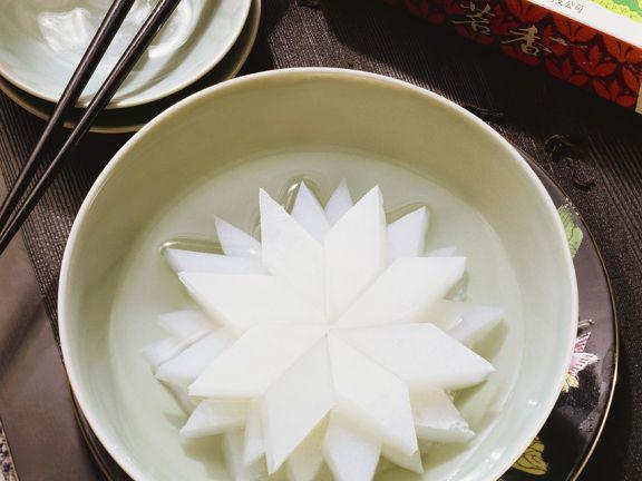 Mandelmilch-Dessertsterne