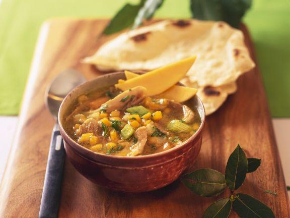Mango-Enten-Suppe