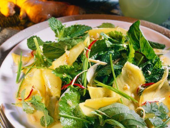Mango-Kräutersalat