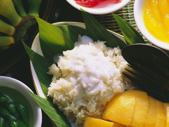 Mango mit Reis