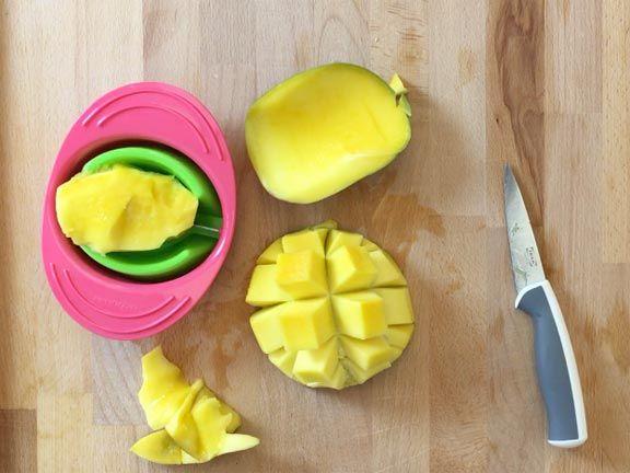 Mango Schälen Schneiden