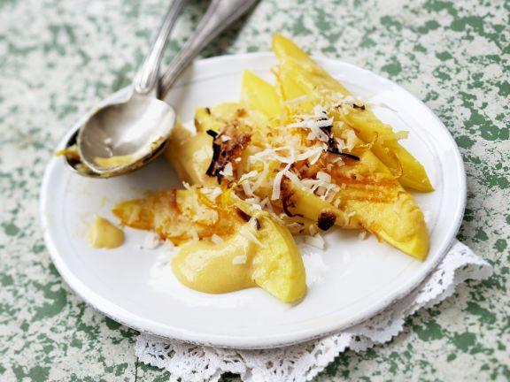 Mangogratin mit Kokos