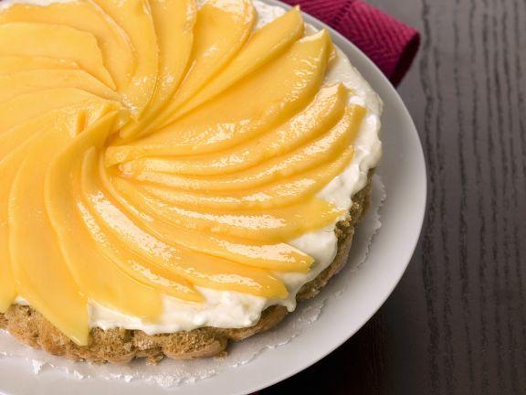 Mangokuchen Mit Weisser Schokoladencreme Rezept Eat Smarter