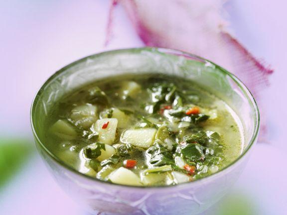 Mangold-Gemüse-Suppe
