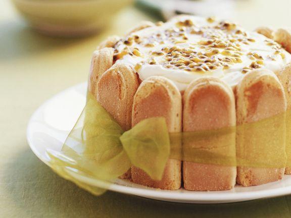Maracuja-Löffelbiskuit-Kuchen