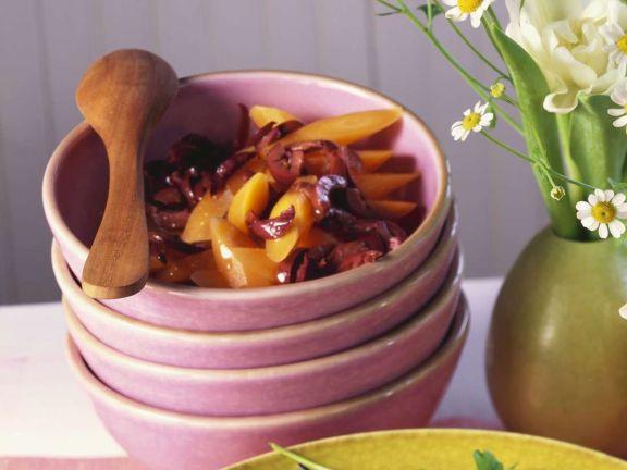 Marinierte Möhren mit Oliven