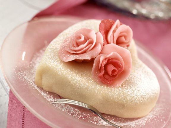 Marzipan-Herzkuchen