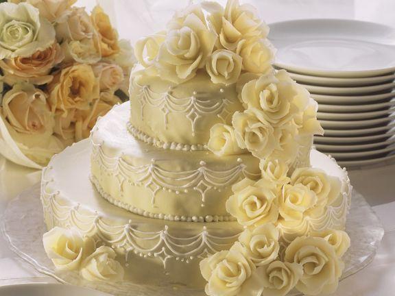 Marzipan-Hochzeitstorte